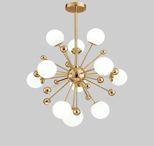 Nordic LED Meal Lámparas colgantes Postmodern Dandelion Glass Ball Chandeliers 11/12/18 Luces para dormitorio Comedor Restaurante