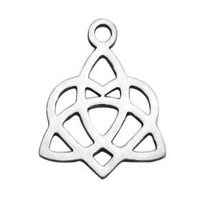 Pendentifs de charme noeud chinois infini religieux en acier inoxydable religieux pour Bracelet Collier fabrication de bijoux 30Pcs / Lot
