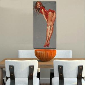 100 % 수제 섹시 누드 우먼 유화 현대 캔버스 유화 벽 아트 침실 그림 홈 그림