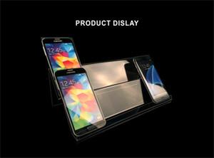 2 couche longue tablette acrylique porte-présentoir mobile support de téléphone portable présentoir titulaire universel pour les téléphones mobiles DHL expédition rapide