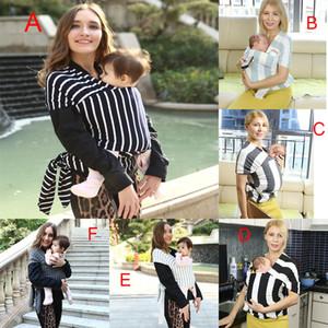 Çok fonksiyonlu Bebek Emzirme Sling Bebek Çizgili Wrap Taşıyıcı Sırt Çantası Çocuk emzirme dört mevsim uygun 7 renkler DHL C4373