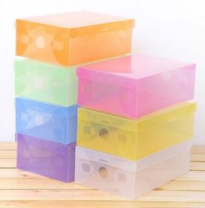 Новый Многофункциональный Прозрачный Пластиковый Обуви Загрузки Коробка Shoebox Ящик Для Хранения Обуви Шкаф Стойки Главная Организатор Контейнер