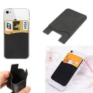 유니버셜 실리콘 지갑 신용 카드 현금 포켓 스티커 접착제 홀더 파우치 전화 3M 가제트 아이폰 x 8 7 6s 플러스 DHL