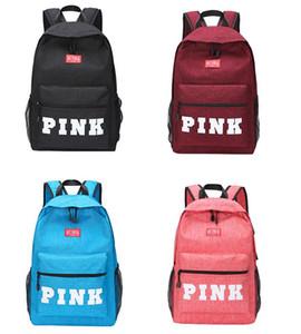 4 color rosado Letter Mochilas 2018 Viajes estudiante de la manera hembra de gran mochila para la escuela al aire libre del recorrido del bolso Bolsas caen buen envío