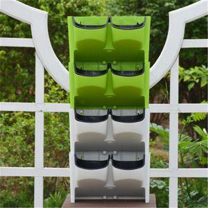 Dikey Duvar Dikim Öz Sulama Kapalı Açık 2-Cep İstiflenebilir Yüksek Kaliteli Bahçe Malzemeleri Bahçe Çiçek Planter Asma