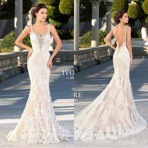 Abiti da sposa Zuhair Murad 2019 Mermaid Appliques in pizzo Sweetheart Abiti da sposa Backless Sexy in rilievo Gothic Tromba Dress For spose BA1666