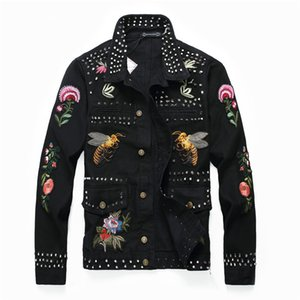 Adam Yaka Rozeti Ceket Eğlence Zaman Tırnak Kovboy Gevşek Ceket Kazak Siyah Moda Tek Satır Toka Ceket Yeni Stil