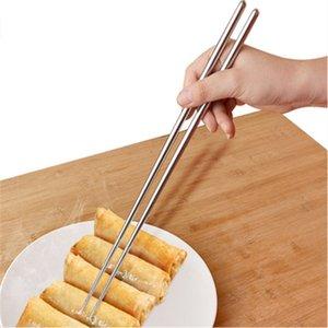 Boa Qualidade Longo 304 Aço Inoxidável China Pauzinhos, Brilhante Polonês Aço Inoxidável 36CM Extra Long Chopsticks Chopsticks Fry