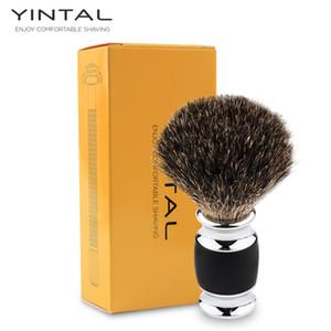 YINTAL Badger فرشاة حلاقة الشعر المصنوعة يدويا Badger الفضي طرف فرشاة الحلاقة أداة الحلاقة فرشاة الحلاقة