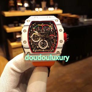 50-03 углеродного волокна мужской бренд часы кварцевые хронограф часы нейлон ремешок мода роскошные мужские бутик часы