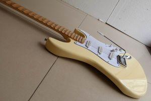Livraison gratuite! Crème guitare pas cher Yngwie Malmsteen manche en érable festonné Big Head ST 6 cordes guitare électrique en stock 120510