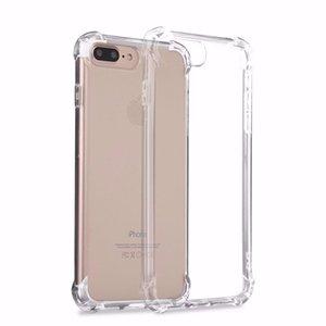 Caso transparente à prova de choque para iphone xs max xr x 6 7 8 tpu macio limpar tampa traseira para samsung s9 plus nota 9