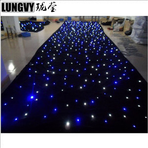 6,5m * 3M LED Star Cortina LED pano de estrela LED pano de fundo para DJ Stage Wedding Backdrops Light