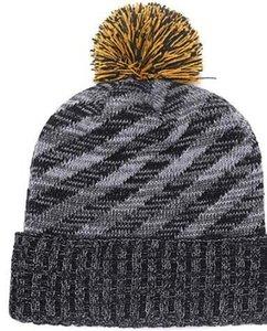 Venta de fábrica Beanie Sideline Clima frío Sombrero de punto Sombrero de grafito Revers oficiales Béisbol Todos los equipos Invierno Pittsburgh Gorro de cráneo de lana de punto