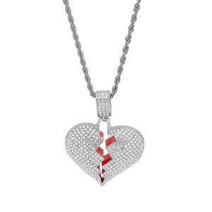 Ciondolo in oro con cuore in argento con pendenti con ciondoli a forma di cuore