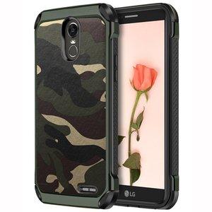NX Armee Camo Camouflage Hybird Rüstung Auswirkungen 2 in 1 PC TPU Fall für LG G5 G6 G7 K8 K10 2017 2018 K30 Aristo X210 V20 V30