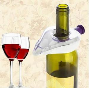 Envío gratis 2018 ventas al por mayor portátil Mini vino tinto aireador botella Topper Pourer aireación Decanter para Bar