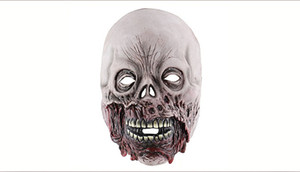 Halloween Rotten bocca zombie horror scheletro maschera Full face Scary fantasmi maschera per Cosplay NightClub Party