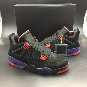 Le plus chaud 4 NRG Raptors Basketball Chaussures Pour Hommes Noir Université Rouge Cour Violet Extérieur en caoutchouc semelle Sneakers Sports AQ3816-056