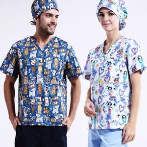 Medico uniforme enfermeria accesorios mulheres enfermeira esfrega topos CLINICOS dentários esteticista salão de beleza enfermeira spa Camiseta zuecos enfermera