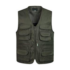 Man Westen Sleeveless Entladen Fashion Weste mit vielen männlichen Manteltaschen Military Jacket Mens Tactical Vest Sweatshirts