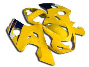 SUZUKI GSXR600 GSXR750 04 05 K4 için sıcak satış kiti kiti satış sonrası GSX-R600 / 750 2004 2005 Siyah sarı fairings FE18 seti