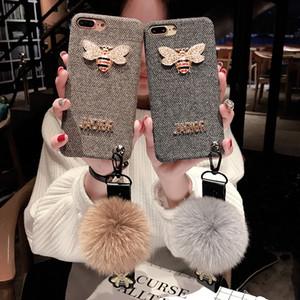 Neue Designer-Mode-Telefon-Kasten für IPhone X / XS XR XSMAX 6 / 6S 6p / 6SP 7/8 7plus / 8plus 2019 Heißer Verkauf TPU Flanell Fall 2 Styles
