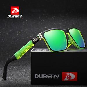 DUBERY para hombre gafas de sol polarizadas recubrimiento moda espejo cuadrado masculino verano deporte al aire libre gafas de sol para mujeres UV400
