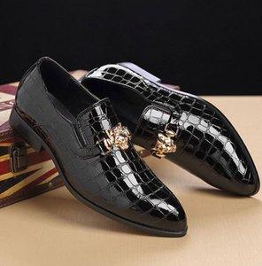 Los zapatos de los hombres de gran tamaño US6-11 Zapatos ocasionales de los hombres británicos un pedal de zapatos envío gratis