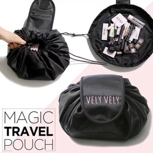 Creative Lazy Cosmetic Bag Large Capacity Portable Drawstring Storage Artifact Magic Travel Pouch Simple Cosmetic Bag