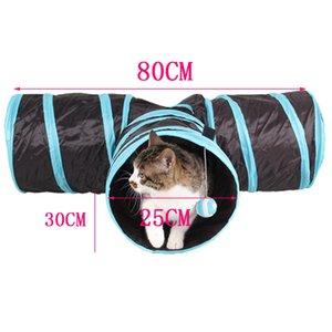 Pieghevole 3 fori Pet Cat Tunnel Giocattoli Indoor Outdoor Pet Gatti Training Toy Kitten Coniglio Divertente Cat Tunnel House Toys