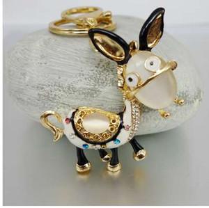 Adojewello gioielli spedizione gratuita strass di cristallo bella asino portachiavi portachiavi per auto borsetta chram portachiavi all'ingrosso