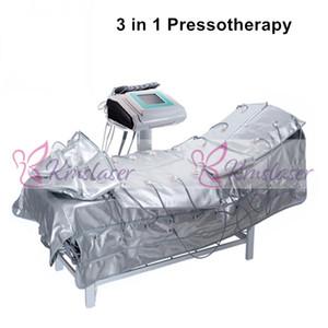 3 en 1 Infrarrojo lejano Presoterapia EMS Estimulación muscular eléctrica Sauna Presión de aire Presoterapia Drenaje linfático Máquina adelgazante corporal
