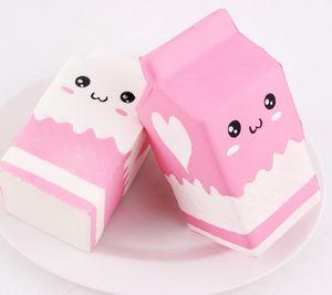 Pacote de leite mole Box Kawaii Big Squishies Toy Scent Imitação bonito Lento alimentos Rising DHL frete grátis