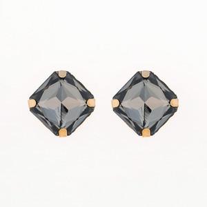 Bijoux de mode Big Stone Stud Earring Accessoires Bleu Foncé Strass Stud Boucles D'oreilles En Gros De Mariage Bijoux Cadeaux # E039