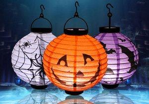 Lanterne de citrouille d'Halloween, lanterne lumineuse en papier, lanterne à main, salle d'Halloween, accessoires, éclairage d'Halloween, 4 couleurs 66