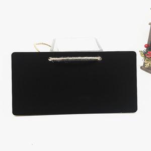 Mini lavagna Lavagna in legno Hanging Message Board 18x8x0.3cm Etichetta regalo Buffet Black Board Shop Bar Forniture per ufficio a casa