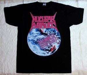 Punho de Assalto Nuclear Com Cuidado'89 Trash Metal Anthrax S.o.d. T-shirt preta nova do verão T-shirt curta do verão das mangas