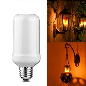 Edison2011 2018 Nueva lámpara E27 Corn Light LED con efecto de llama Bombillas de luz 9W Parpadeante Luces de llama de emulación AC85-265V 3 modos