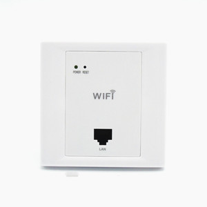 White Wireless WiFi in Wall AP High Quality Hotel Rooms Wi-Fi Cover Mini Wall-mount AP Router Access Point