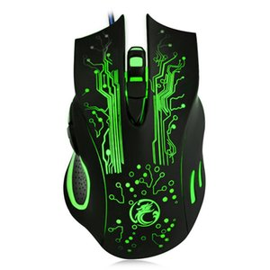 USB game optical mouse Breathing LED Light Colorful e-sports eat chicken LOL Programmable Wired gaming mouse