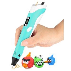 Disegno LED Display DIY 3D Printer Printing Pen ABS PLA Filamenti Arte Disegno Pittura 3D Penne per bambini Strumenti educativi per bambini Hobby Giocattoli