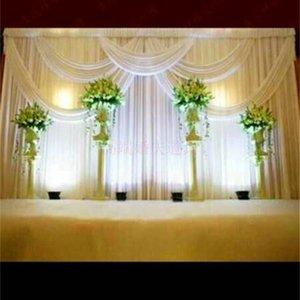 Novo Padrão De Fundo Cortina De Cetim Festa De Casamento Decoração de Palco Véu Clássico Fio Teto Pano De Fundo Venda Quente 280gd Ww