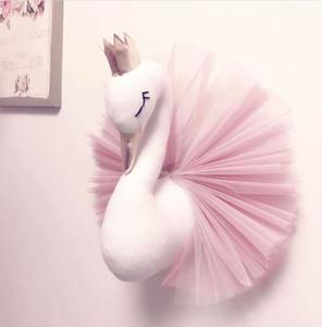 INS Baby Zimmer Schmücken Nette Crown Swan Wandbehang Dekoration 2018 Mode Cartoon Tier Spitze Design für Kinder Zimmer C5296