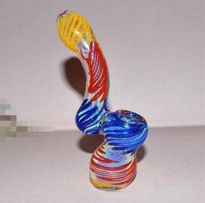 Farbige 4,5 zoll kürbis Alien Glaspfeifen Mit Ölplattform Glas Bong Bubbler Shisha Hand Tabaklöffel Pfeife Werkzeuge Zubehör