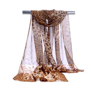 Fabrik Großhandel Silk Chiffon Schal Mode Frauen Lange Stil Wrap Dame Schal Leopard Chiffon Schal Schals Stola Bekleidungszubehör