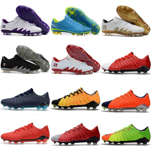 جديد 2018 Hypervenom Phantom III أحذية كرة القدم للرجال أحذية كرة القدم العالمية لروسيا المنخفضة أعلى الحجية الخاصة 39-45