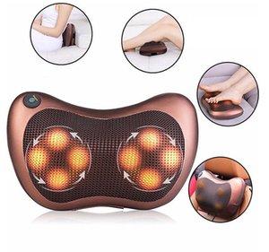 Consejo de masaje almohada eléctrica de calefacción por infrarrojos de amasamiento de cuello del hombro Volver masaje del cuerpo de la almohadilla del coche principal de doble uso masajeador