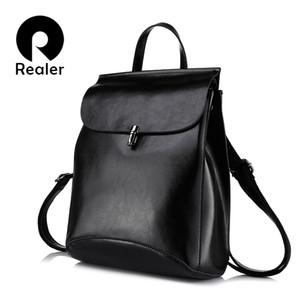 REALER femmes sac vache split en cuir femme sac à dos sac à dos vintage pour les adolescentes sacs occasionnels femmes sacs à bandoulière