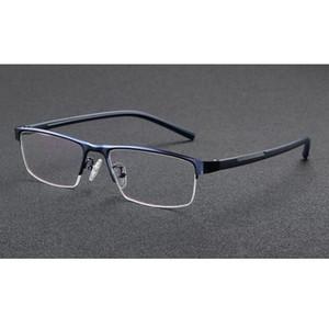 Half-Rim Очки Для Чтения Фотохромные Очки Изменение Цвета Линзы Очки Мода Синий Металлический Каркас Женщины Мужчины Eye Reader + 1.0 ~ + 3.5